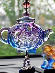 Diy pendentes automotivos estilo chinês pingente de carro de panela segura&Ornamentos de vidro