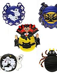 1pc фестиваль украшения Хэллоуин бумага подвеска фонарь украшения паук летучие мыши реквизит преследует дома бар вечеринки случайный стиль