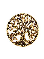 Homens Mulheres Broches Jóias Personalizado Moda Aço Inoxidável Árvore da Vida Jóias Para