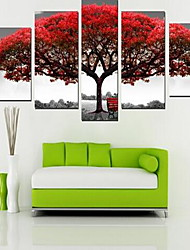 Five Panels Square Print Wall Decor For Home Decoration