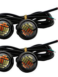 4pcs 23MM White & Yellow 4014 12Led Eagle Eye Daytime Running Light Source Waterproof Parking lamp Universal Car styling DC12V