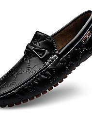 Для женщин Мокасины и Свитер Для прогулок Удобная обувь Ткань Лето Осень Повседневные Шнуровка На плоской подошве Белый Черный СинийНа