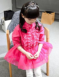 Girl's Solid Dress Half Sleeves