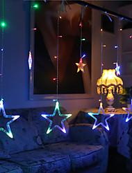 10m 60led rgb luces de navidad luces de la estrella fiesta decoración de la boda decoraciones cortina luces cadena luces 220v