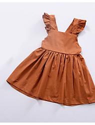 Menina de Vestido Listrado Color Block