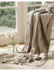 Трикотаж Сплошной цвет Хлопок/полиэфир одеяла