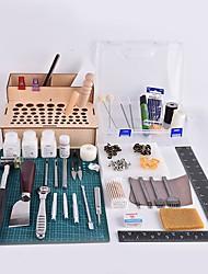 Caixa de ferramentas de couro handmade de caranguejo Kingdom® diy tipo de atualização de carteira de couro auto-costura
