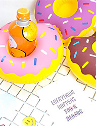 Inflatable Donut Cup Holder Floating Inflatable Coasters Drink Beverage Holders Pool Can Party Bath