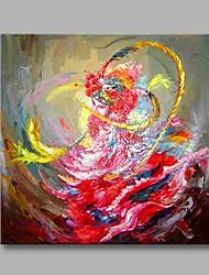 Pintados à mão Étnico Artistíco Temática Asiática Escritório/Negócio Ano Novo 1 Painel Tela Pintura a Óleo For Decoração para casa