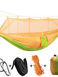 Hamaca para camping con red antimosquitos Antimosquitos Plegable Nylón para Camping Camping / Senderismo / Cuevas Al Aire Libre