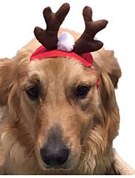 Кошка Костюмы Аксессуары для шерсти Одежда для собак Косплей Рождество Сплошной цвет Красный