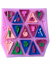 Alphabet Silicone Cake Mold Bunting Flag Cupcake Candy Mould Baking Tools Kitchen Accessories Random Color
