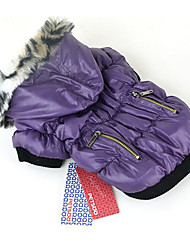 Dog Coat Hoodie Dog Clothes Casual/Daily Solid Green Ruby Fuchsia Purple Black