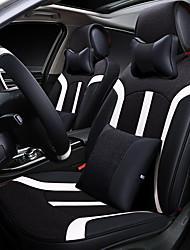 Sedile auto sedile cuscino tela copri sedile in pelle quattro sedile generale circondato da cinque sedili 2 poggiatesta 2 vita dando le