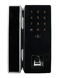 Abertura livre bloqueio automático duplo aberto quadro vidro porta fechadura impressão digital bloqueio bloqueio do cartão de senha único