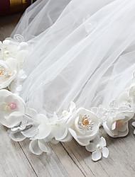 Chiffon Fabric Silk Net Headpiece-Wedding Special Occasion Birthday Party/ Evening Headbands Flowers 1 Piece