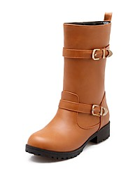 Feminino Botas Conforto Inovador Gladiador Botas de Neve Botas da Moda Botas de Moto Curta/Ankle Sapatos formais Materiais Customizados
