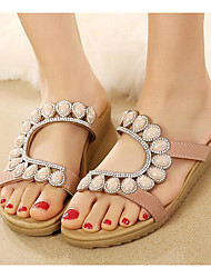 Women's Sandals Gladiator Comfort Summer PU Casual Blue Almond Flat