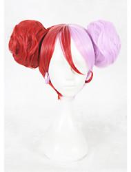 Perucas sintéticas Sem Touca Curto Liso Vermelho Faux Locs Wig Peruca para Cosplay Perucas para Fantasia
