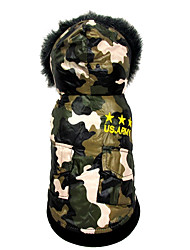 Dog Coat Dog Clothes Casual/Daily American/USA Camouflage Color