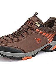 Hiking Shoes Camel Men's Cow Leather Outdoor Breathable Anti-skidding  Color Brown/Gray