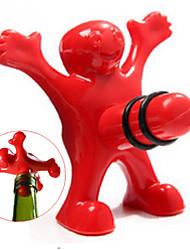 Уникальный смешной счастливый красный человек парень бутылка вина бутылка пластиковая новинка бар / домашние инструменты подключить