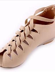 Women's Shoes PU Spring Summer Comfort Heels Wedge Heel Peep Toe For Casual White Black Almond