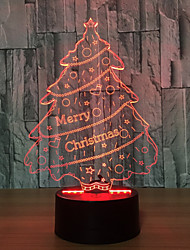 3D Colorful Christmas Tree Atmosphere Led Night Lights Mood Lamp Year'S Gift Present For Kid
