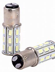 2pcs 6w blanc dc12v 1157 27smd 5630 led ampoule lampe lampe inversée feu arrière lumière de frein