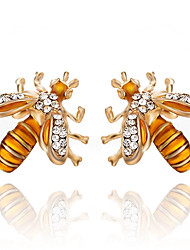 Women's Stud Earrings Imitation Diamond Classic Costume Jewelry Fashion Alloy Bee Jewelry For Party Gift Daily Evening Party Stage