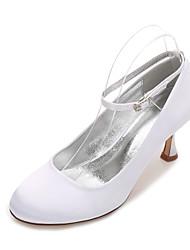 Women's Wedding Shoes Comfort Mary Jane Spring Summer Satin Wedding Party & Evening Dress Ribbon Tie Low Heel Kitten Heel Stiletto Heel