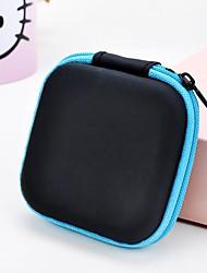 1 шт мягкий цвет квадратный наушник молния сумка для хранения