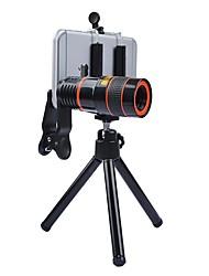 Boucles d'oreille 8x long focale optique optique optique caméra optique 0.63x grand angle 15x macro lentille de poisson pour iphone huawei
