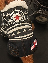 Dog Clothes/Jumpsuit Dog Clothes Casual/Daily American/USA Ruby Coffee