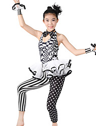 MiDee Jazz Unitards Women's / Children's Performance Spandex / Polyester Cascading Ruffle / Ruffles / Polka Dots 5 Pieces