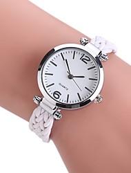 Mulheres Relógio Elegante Relógio de Moda Relógio de Pulso Chinês Quartzo PU Tecido Banda Vintage Boêmio Casual Elegantes Preta Branco