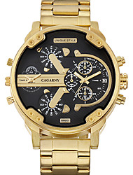 WEIDE Men's Casual Watch Japanese Quartz / Stainless Steel Band Gold