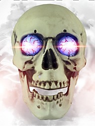 Skull Sound Controll Luminous voice skull Horror TAKAGISM Game Real Life Escape Room Game Props Halloween Props
