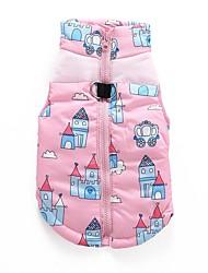 Cat Dog Coat Sweatshirt Vest Dog Clothes Party Casual/Daily Keep Warm Wedding Cartoon Blushing Pink Blue
