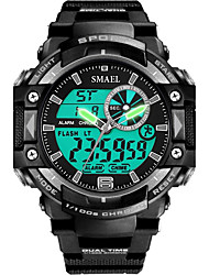 Slael Men's Kid's Sport Watch Chinese Digital Water Resistant / Water Proof Stopwatch Noctilucent PU Band Black