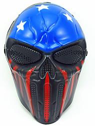 Хэллоуин креативный череп страшный призрак маска wargame главный тактический cs косплей камуфляж звезды и полосы маска карнавал маскарад
