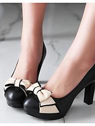 Damen Schuhe PU Frühling Komfort High Heels Mit Für Normal Weiß Schwarz Beige Rosa