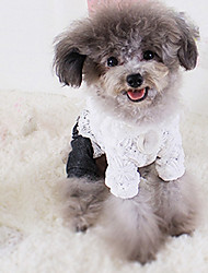 Cachorro Vestidos Roupas para Cães Casual Princesa Branco
