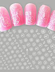 1pcs Nail Art Flower 3D Sticker Beautiful White Flower Pattern DIY Design F111