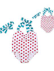 Girls' Polka Dots Swimwear