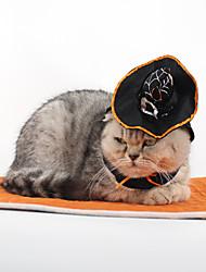 Кошка Костюмы Аксессуары для шерсти Одежда для собак Косплей Хэллоуин Сплошной цвет