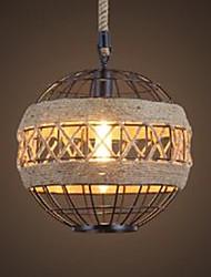 Rétro personnalité loft industriel vent dîner chandelier américain créatif grenier salon iron art globe chanvre lampe