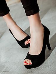 Damen Schuhe PU Sommer Komfort Sandalen Mit Für Normal Schwarz Purpur Rot
