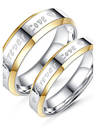 2PCS Couple's  Rings Fashion Simple  Elegant Titanium Steel Ring Jewelry For Wedding Engagement Daily  Evening Party