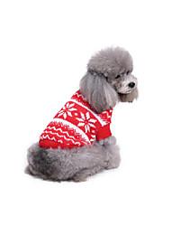 Hund Pullover Hundekleidung Weihnachten Schneeflocke
